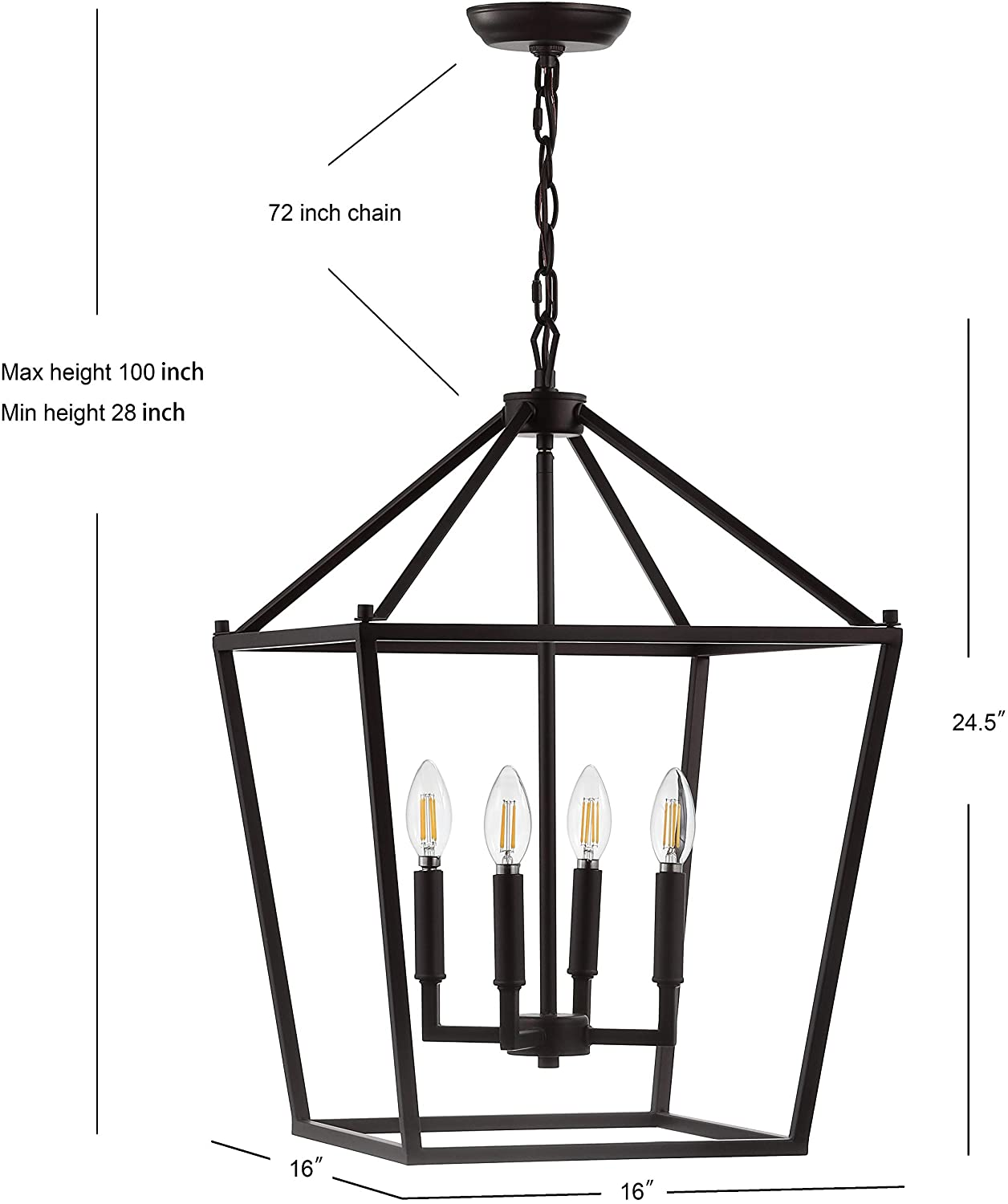 JONATHAN Y JYL7437A Pagoda Lantern 1 Lamps Buy - Best Online Lighting Stores