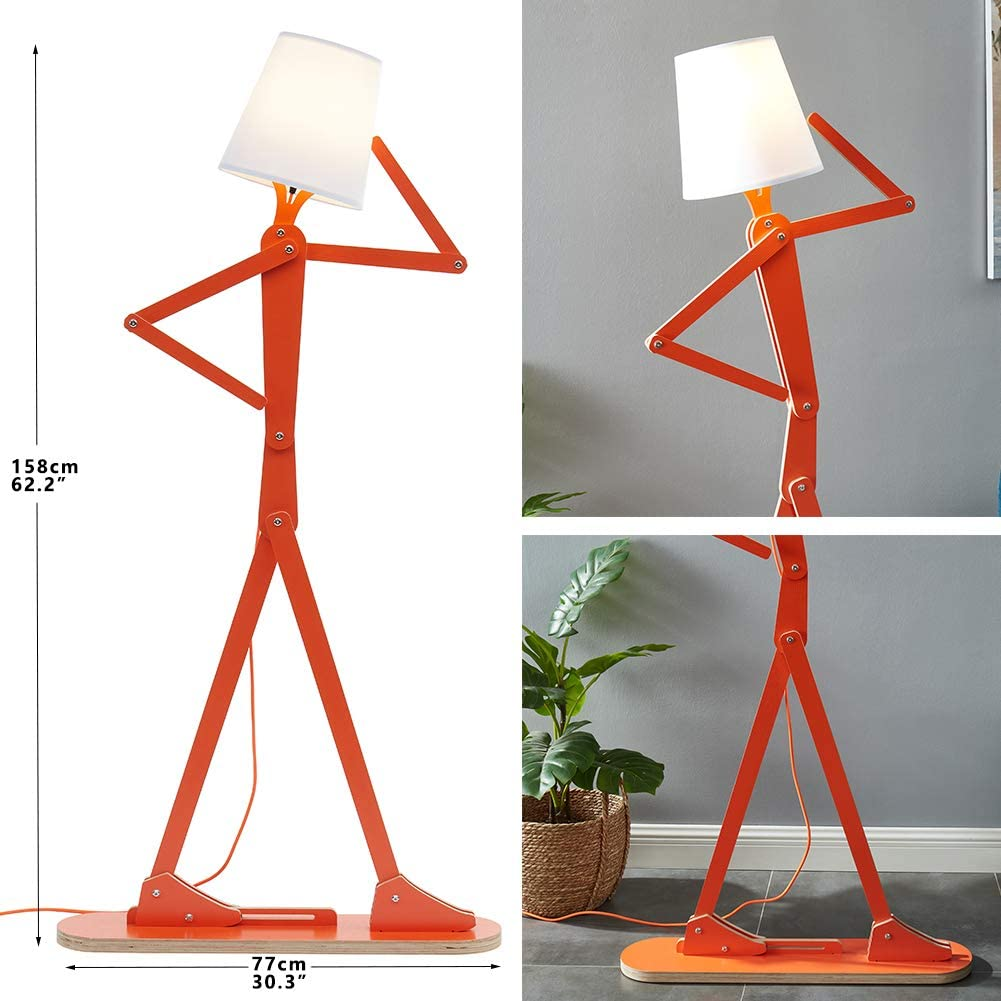 HROOME Cool Creative Floor Lamps Wood Tall Decorative Reading Standing Swing Arm Light 3 Lamps Buy - Best Online Lighting Stores